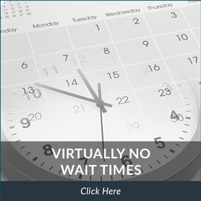 virtually no wait times